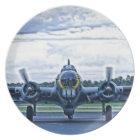 B17 Vintage Airplane Aircraft Flying Plate