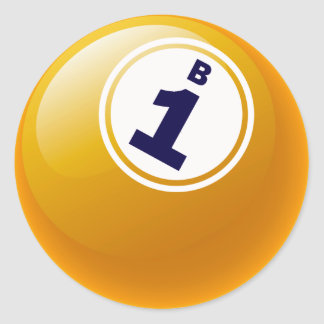B1 BINGO BALL CLASSIC ROUND STICKER