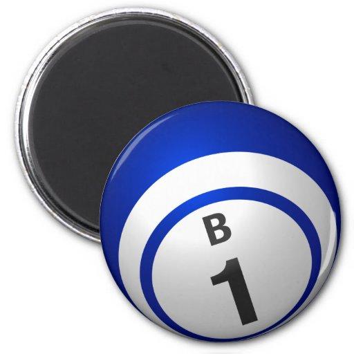 b1 bingo ball magnet