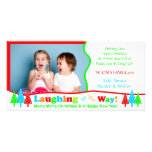 B1 Laugh All Way White Christmas Photo Template Custom Photo Card