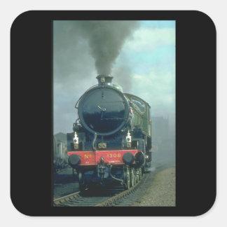 B1 No. 1306 blackens the_Steam Trains Square Sticker