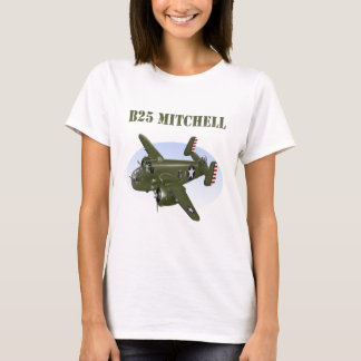 B25 Mitchell Bomber Green Plane T-Shirt