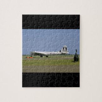 B29 On Runway. (plane;b29_WWII Planes Jigsaw Puzzle