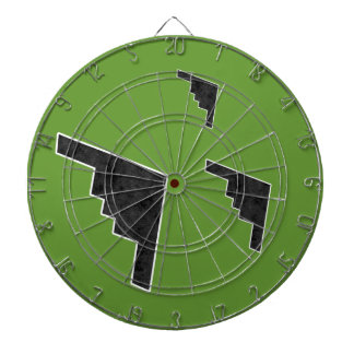 B2 Stealth Bomber Silhouette Formation Dartboard