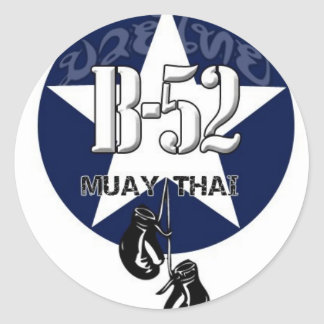 B52 MUAY THAI ROUND STICKER