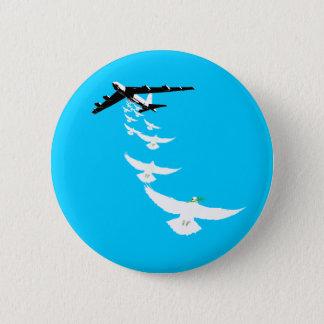 B52 Peace Dove Bomber 2 Inch Round Button
