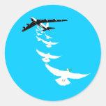 B52 Peace Dove Bomber Classic Round Sticker