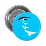 B52 Peace Dove Bomber Pinback Button