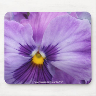 b7 Purple Lavender Pansy Mouse Pad
