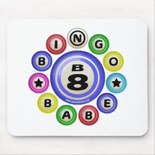 B8 Bingo Babe Mouse Pads