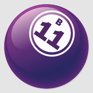 B 11 BINGO BALL CLASSIC ROUND STICKER