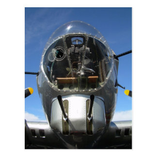 B-17 bombardier seat over Arizona Postcard