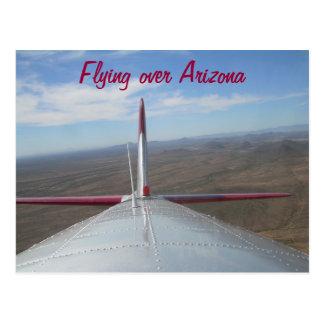 B-17 Bomber over Phoenix AZ Postcard
