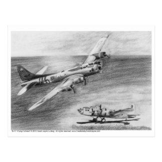 (B-17) Flying Fortress Postcard