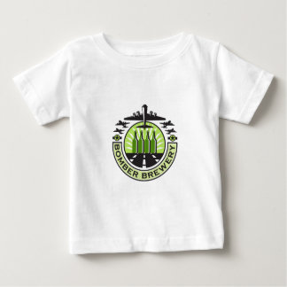 B-17 Heavy Bomber Beer Bottle Brewery Retro Baby T-Shirt