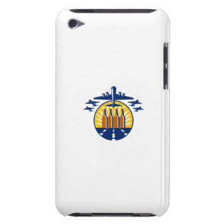 B-17 Heavy Bomber Beer Bottle Circle Retro iPod Touch Case