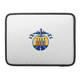 B-17 Heavy Bomber Beer Bottle Circle Retro Sleeves For MacBook Pro