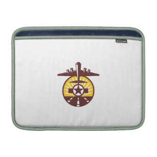 B-17 Heavy Bomber Star Runway Circle Retro Sleeves For MacBook Air