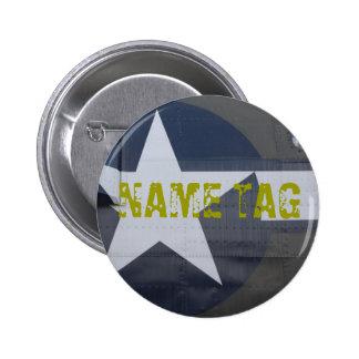 B-17 Name Tag Button