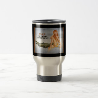 B-17 Pin- Up Stainless Steel Travel Mug