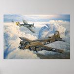 B-17 Shack Rabbit Military Planes Poster