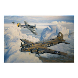 B-17 Shack Rabbit Military Planes Poster
