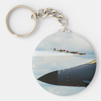 B-1 Bomber and WWII Fighters Basic Round Button Keychain