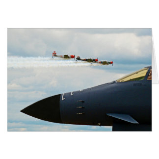B-1 Bomber and WWII Fighters Card
