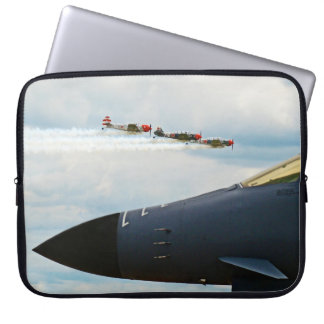 B-1 Bomber and WWII Fighters Laptop Sleeve
