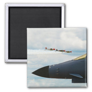 B-1 Bomber and WWII Fighters Magnet