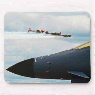 B-1 Bomber and WWII Fighters Mouse Pad