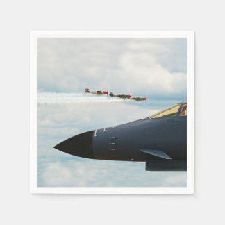 B-1 Bomber and WWII Fighters Napkin