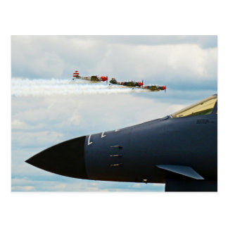 B-1 Bomber and WWII Fighters Postcard