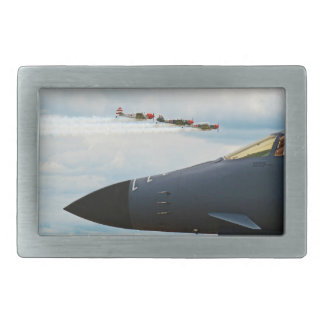 B-1 Bomber and WWII Fighters Rectangular Belt Buckles