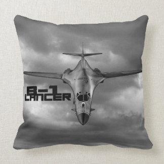 B-1 Lancer Grade A Cotton Throw Pillow 20x20