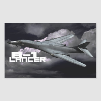 B-1 Lancer Rectangle Stickers
