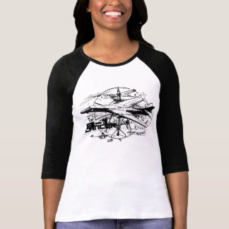 B-1 Lancer Women's Bella 3/4 Sleeve Raglan T-Shirt