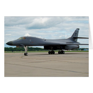 B-1B Lancer Bomber on Ground Card