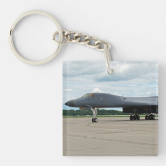 B-1B Lancer Bomber on Ground Keychain