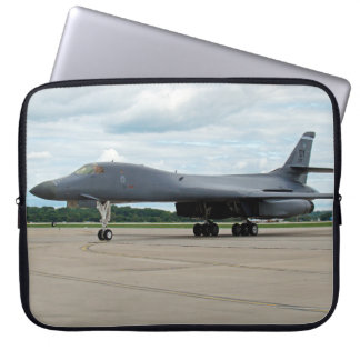 B-1B Lancer Bomber on Ground Laptop Sleeve