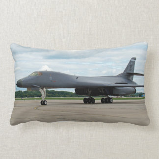 B-1B Lancer Bomber on Ground Lumbar Pillow