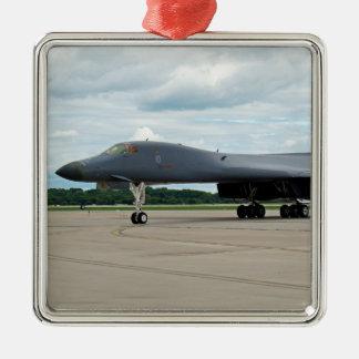 B-1B Lancer Bomber on Ground Metal Ornament