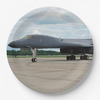 B-1B Lancer Bomber on Ground Paper Plate
