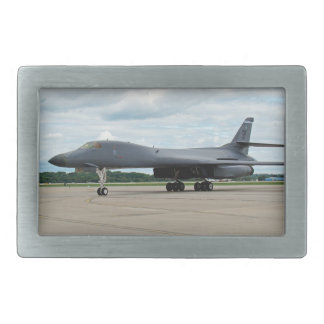 B-1B Lancer Bomber on Ground Rectangular Belt Buckles