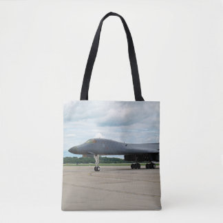 B-1B Lancer Bomber on Ground Tote Bag