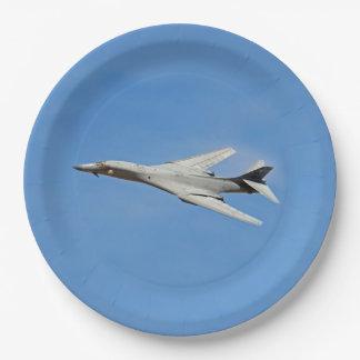 B-1B Lancer Bomber Wings Swept Paper Plate