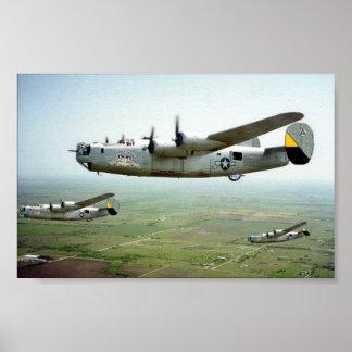 B-24 Bomb Run 449th Poster