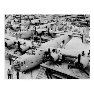 B-24 Bomber Assembly Line, 1943 Postcard