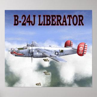 B-24J LIBERATOR BOMBS AWAY POSTER