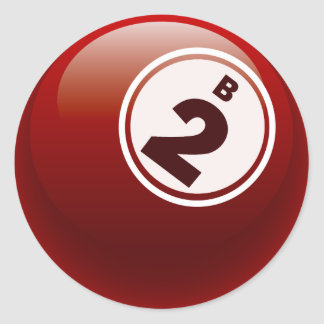 B 2 BINGO BALL CLASSIC ROUND STICKER